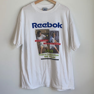 1999 Reebok Michael Chang Vs Jan-Michael Gambill Tennis Exhibition White Tee Shirt