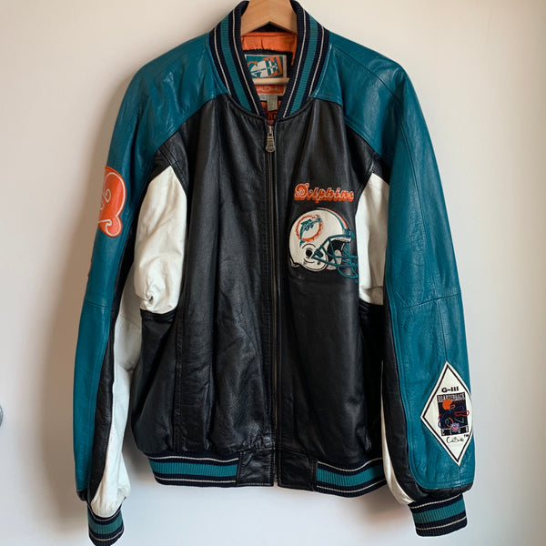 Carl Banks Miami Dolphins Leather