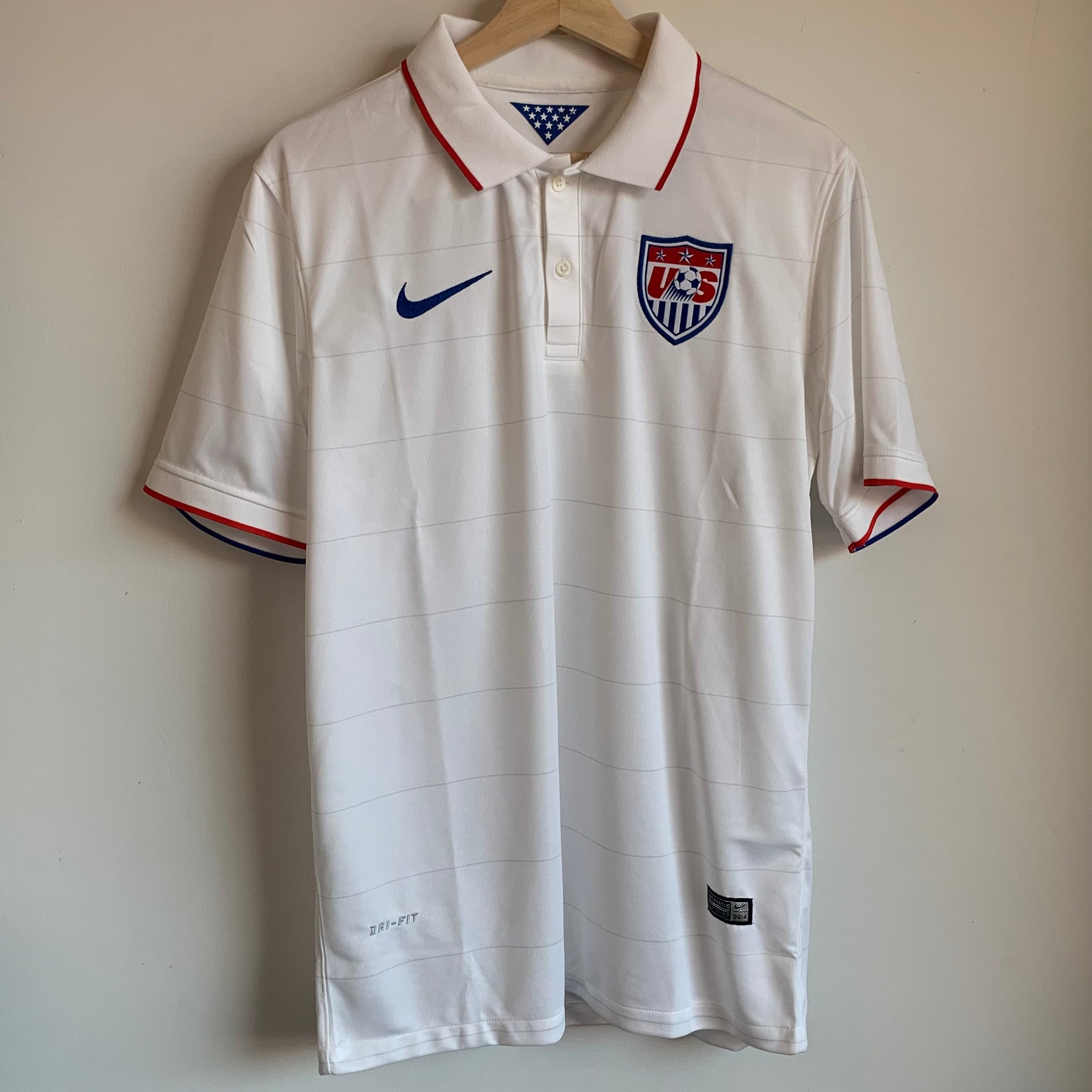Nike USA Striped White Soccer Jersey