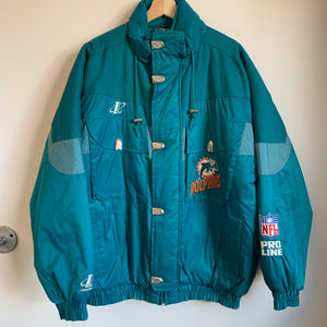 Logo Athletic Miami Dolphins Teal Parka Jacket