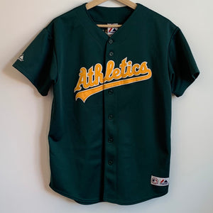 Majestic Eric Chavez Oakland Athletics Green Youth Baseball Jersey