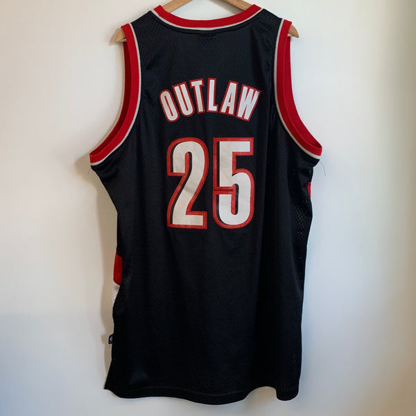 Adidas Travis Outlaw Portland Trail Blazers Black Swingman Basketball Jersey