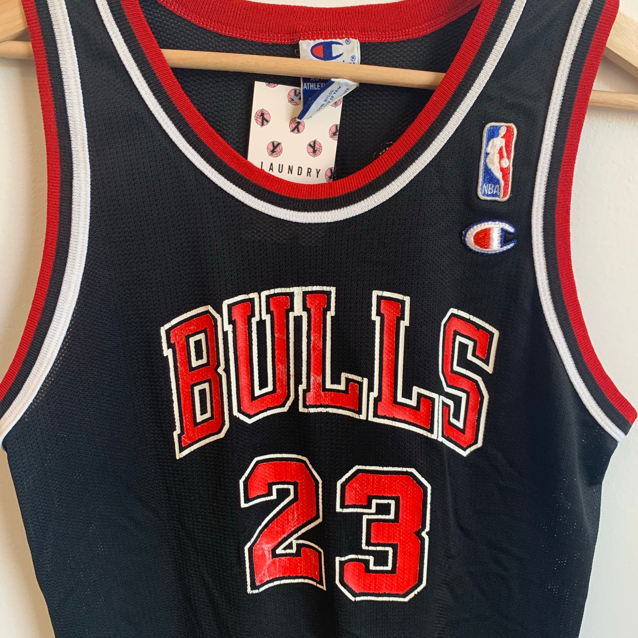 Champion Michael Jordan Chicago Bulls Black Youth Basketball Jersey