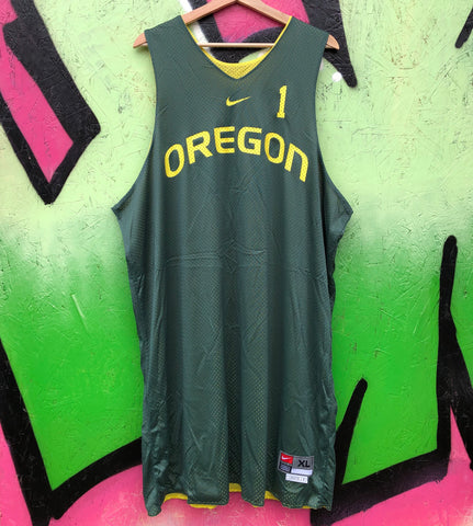 Nike Brooks Oregon Ducks Reversible Practice Worn Basketball Jersey