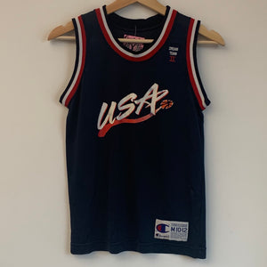 Champion Blank USA Dream Team Navy Youth Basketball Jersey