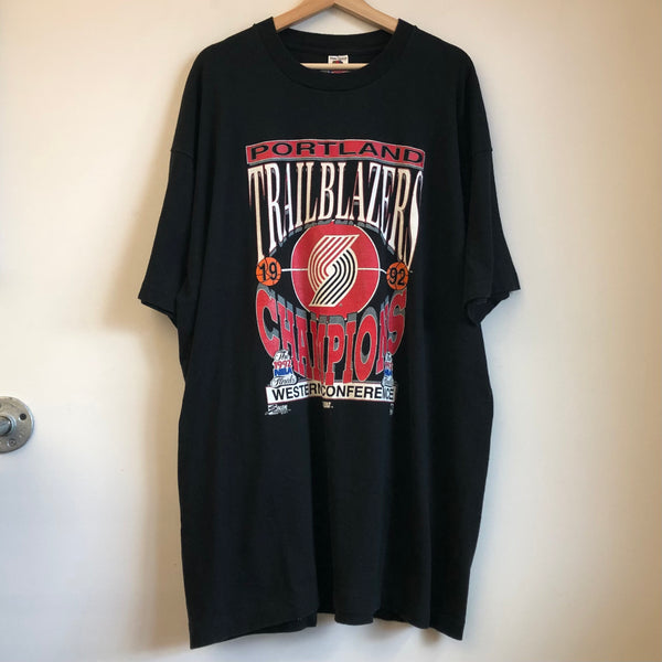 1992 Portland Trail Blazers Western Conference Champions NBA Finals Tee Shirt