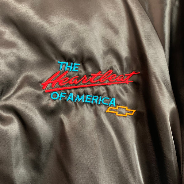 "Chevrolet ""The Heartbeat of America"" Black Satin Jacket"