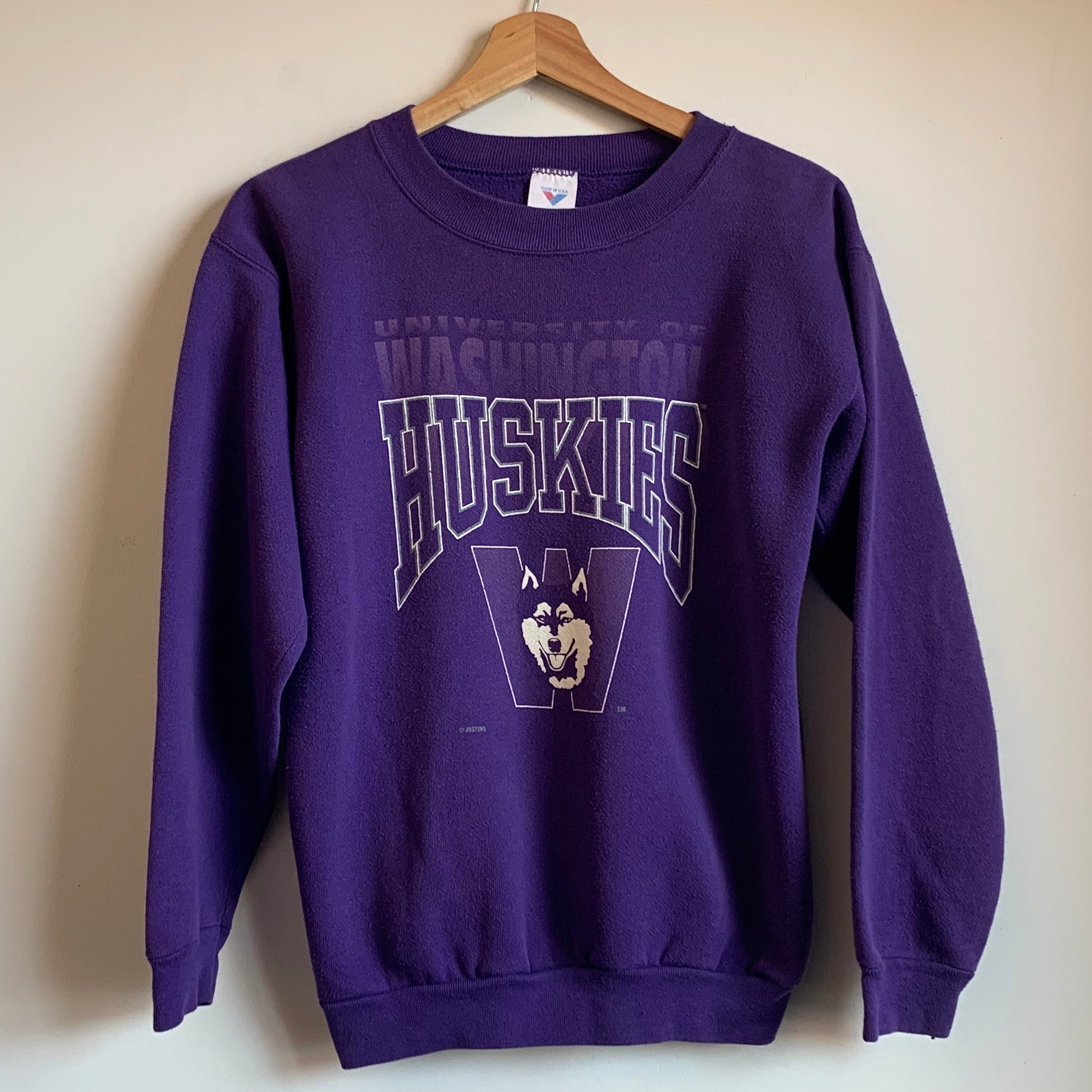 Jostens Washington Huskies Purple Youth Crewneck Sweatshirt