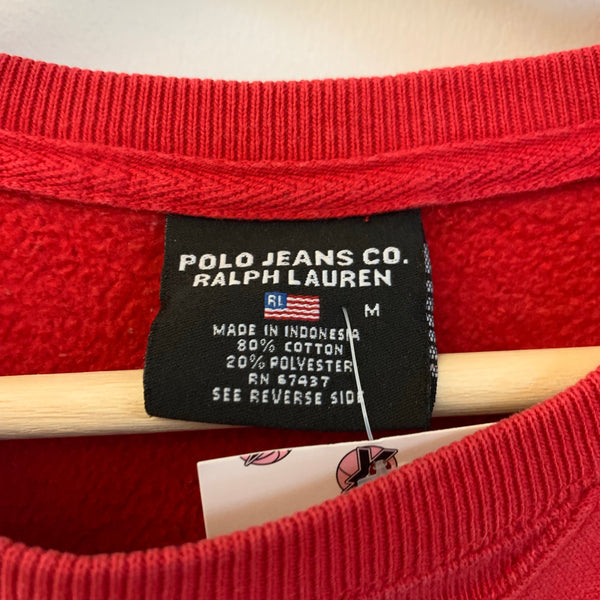 Polo Jeans Ralph Lauren Red Crewneck Sweatshirt