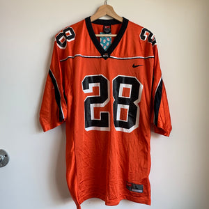 Nike Oregon State OSU Beavers Orange Football Jersey