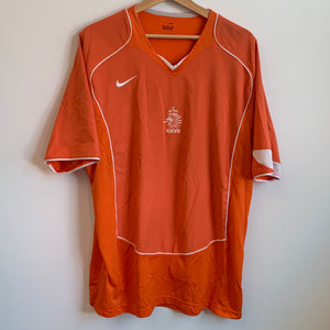 Nike Netherlands Holland 2004/06 Orange Soccer Jersey