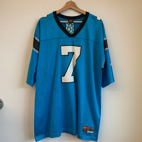 Nike Steve Beuerlein Carolina Panthers Blue Football Jersey