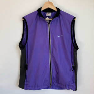 Nike Purple Windbreaker Vest