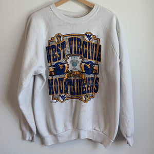 1994 West Virginia Mountaineers White Crewneck Sweatshirt
