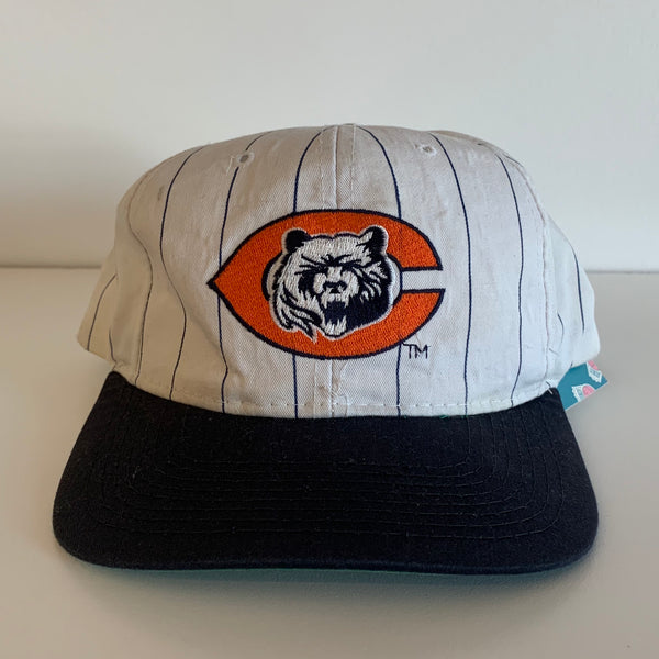 Starter Chicago Bears Black & White Pinstriped Snapback