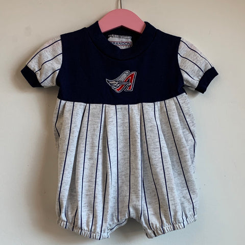 Toddler Anaheim Angels Navy Blue/Gray Onesie