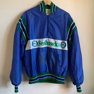 DeLong Seattle Seahawks Half Zip Sweater