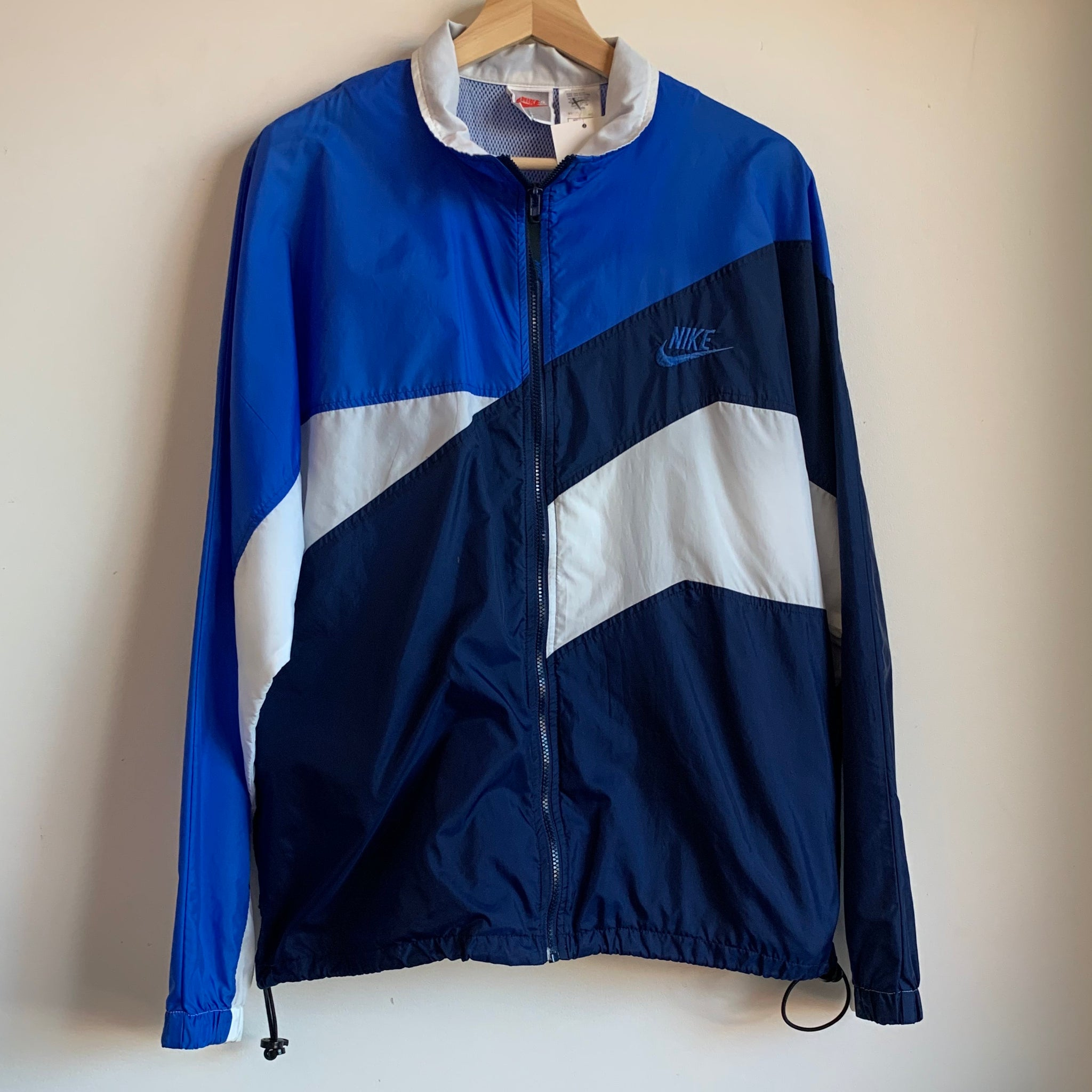 Nike Gray Tag Navy/Blue/White Windbreaker Jacket