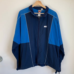 Nike Gray Tag Navy/Blue Windbreaker Track Jacket