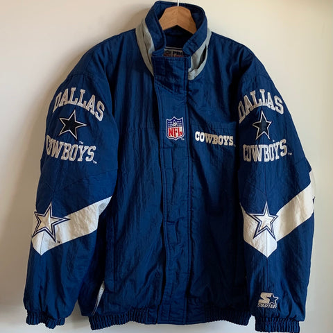 Starter Dallas Cowboys Blue Parka Jacket