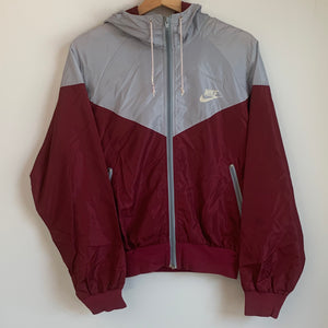 Nike Gray/Maroon Windbreaker Jacket