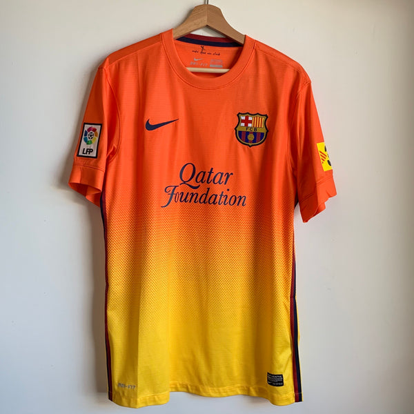 Nike FC Barcelona Orange/Yellow Soccer Jersey