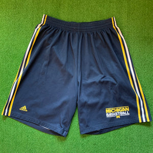 Adidas Michigan Wolverines Navy and Yellow Shorts