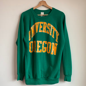 Oregon Ducks Word Mark Green Crewneck Sweatshirt