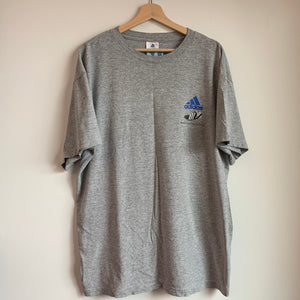 "adidas ""Been A Long Time Running"" Gray Tee Shirt"