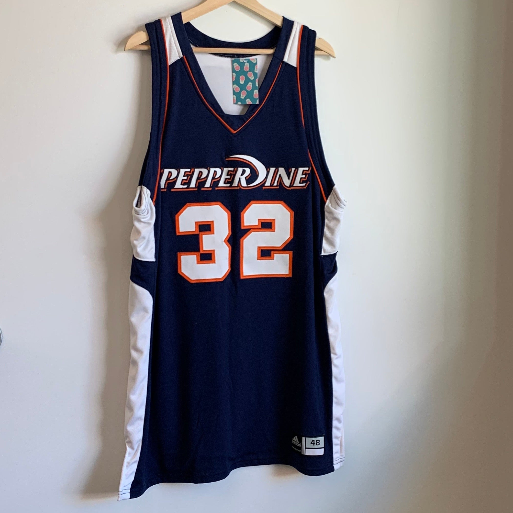 Adidas Pepperdine Waves Navy Authentic Basketball Jersey