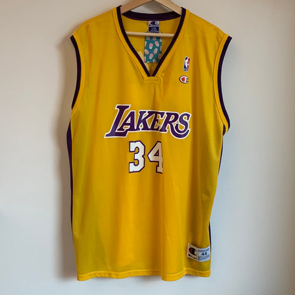 Champion Shaquille O'Neal Los Angeles Lakers Yellow Basketball Jersey