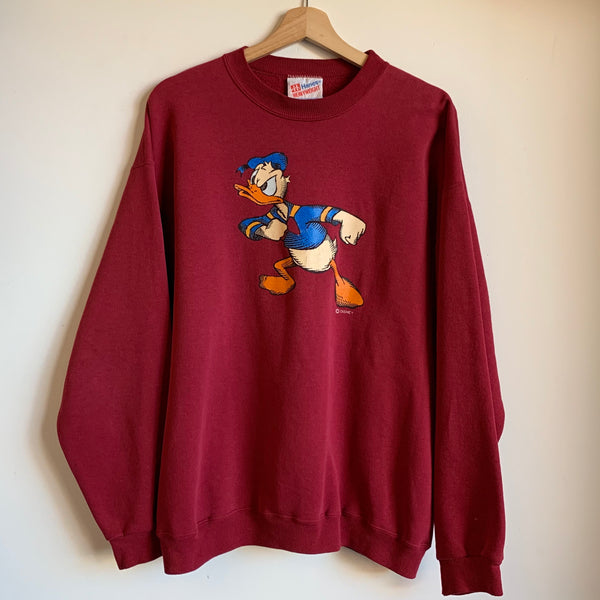 Donald Duck Maroon Crewneck Sweatshirt
