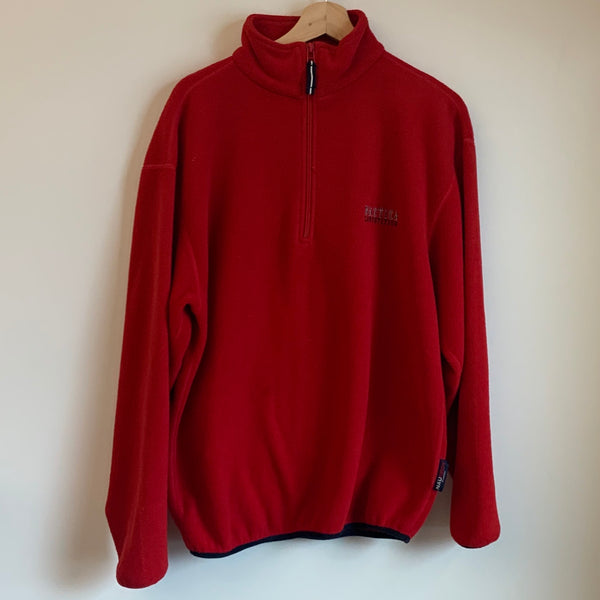 Nautica Competition Red Pullover Fleece Sweatshirt