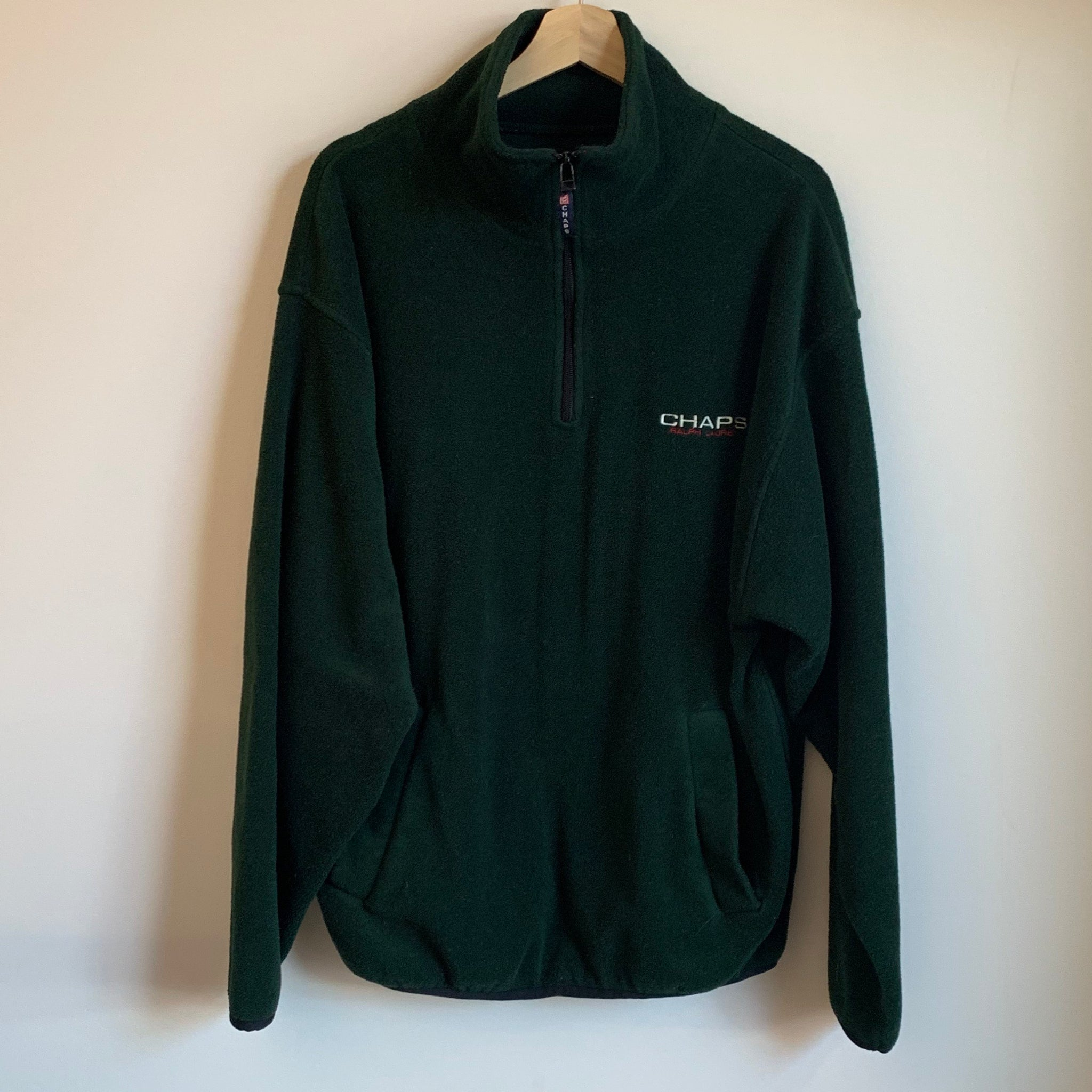 Chaps Ralph Lauren Green Fleece Sweatshirt