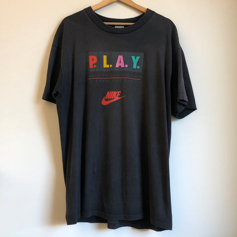 Nike Gray Tag P.L.A.Y. Black Tee Shirt