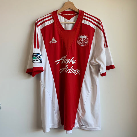 Adidas Portland Timbers Red/White Soccer Jersey