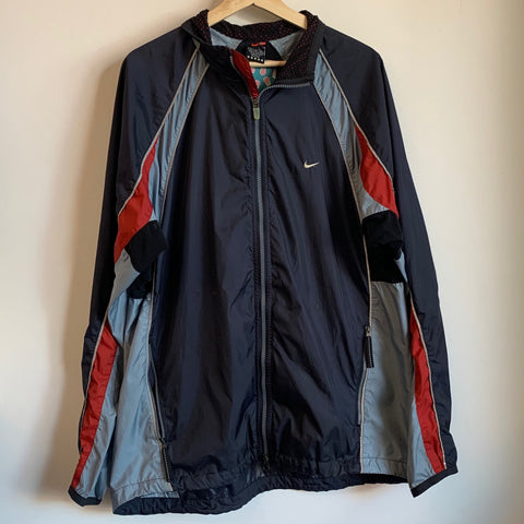 Nike Small Swoosh Windbreaker Black/Gray/Red