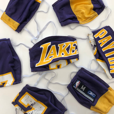 Los Angeles Lakers Basketball Jersey Mask
