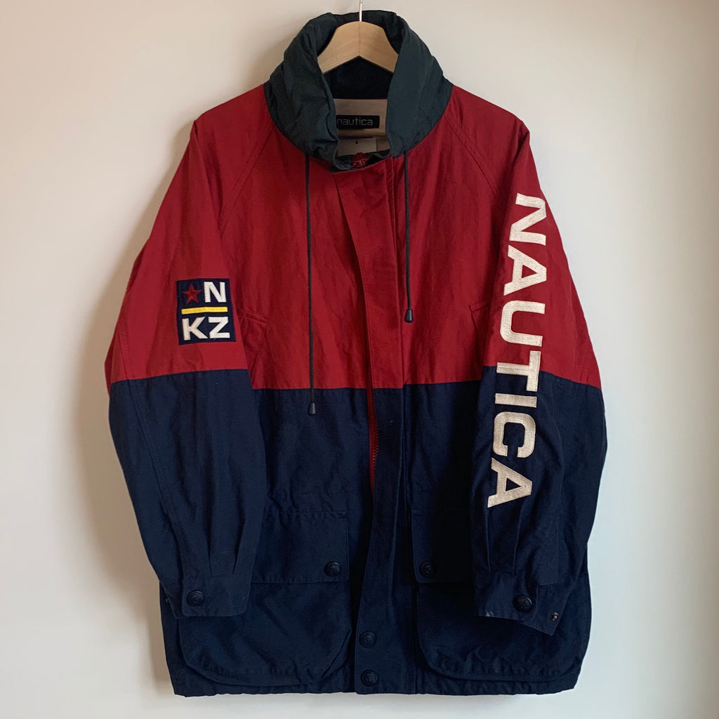Nautica Sleeve Spell Out Color Block Jacket