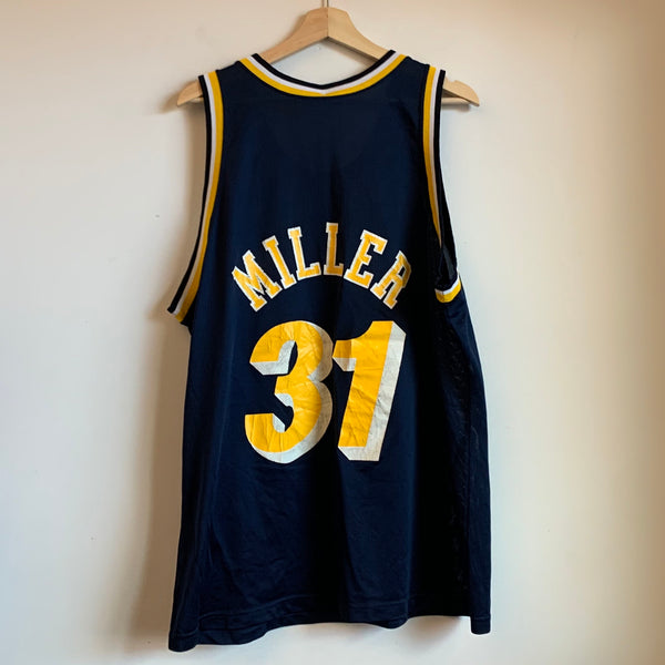 Champion Reggie Miller Indiana Pacers Navy Basketball Jersey