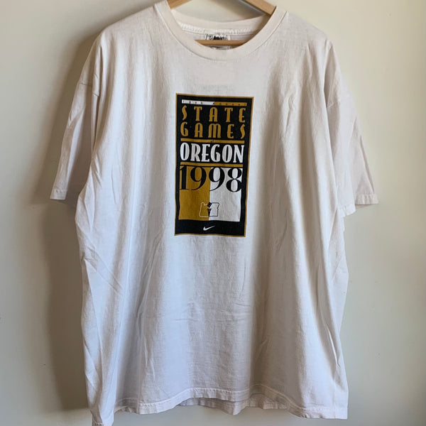 1998 Nike 13th Annual State Games of Oregon White Tee Shirt