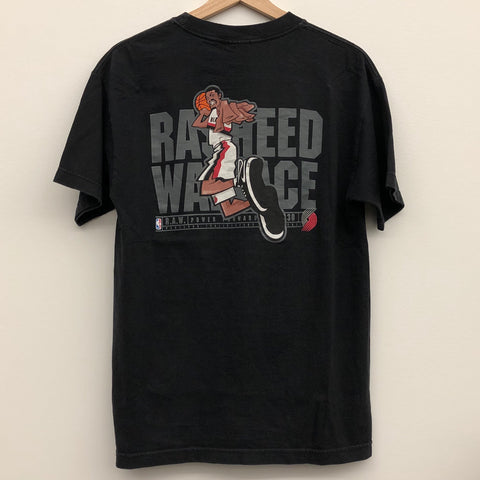 Nike Rasheed Wallace Portland Trail Blazers Black Tee Shirt