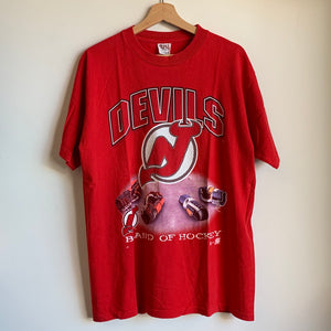 "New Jersey Devils ""Band of Hockey"" Red Tee Shirt"
