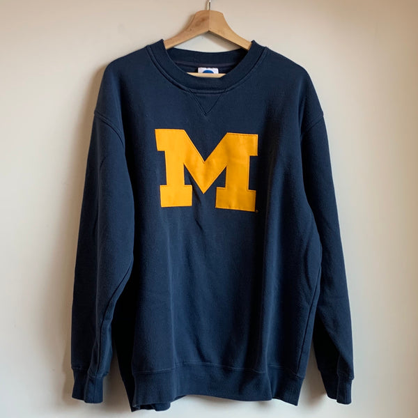 Michigan Wolverines Navy Crewneck Sweatshirt