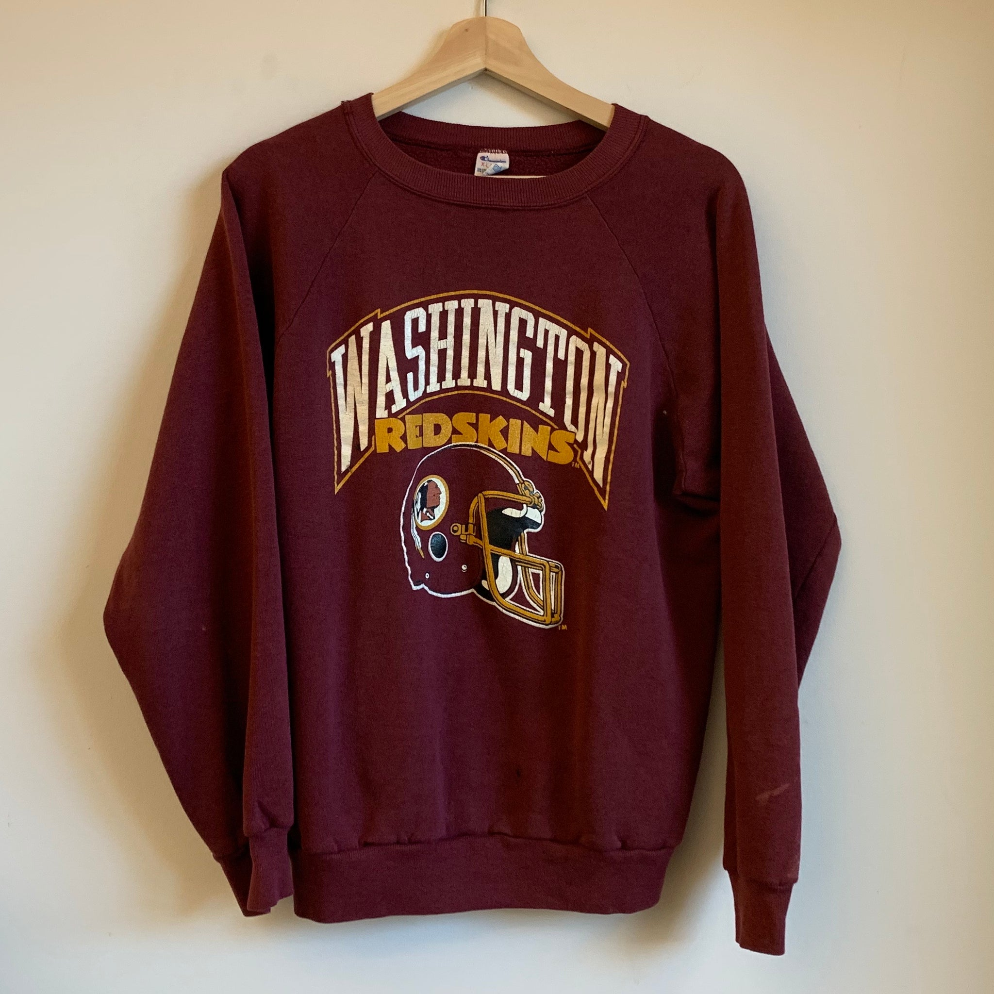 Washington Redskins Burgundy/White/Yellow Crewneck