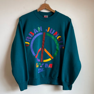 Nike Gray Tag Urban Jungle Gym Teal Crewneck Sweatshirt