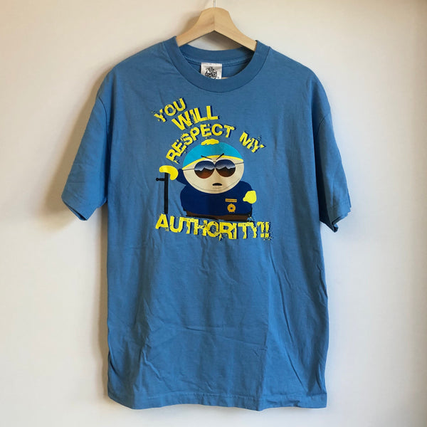 South Park Cartman Respect My Authority Blue Tee Shirt