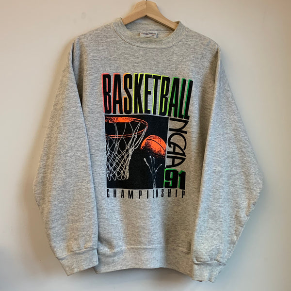 1991 NCAA Basketball Championship Gray Crewneck Sweatshirt