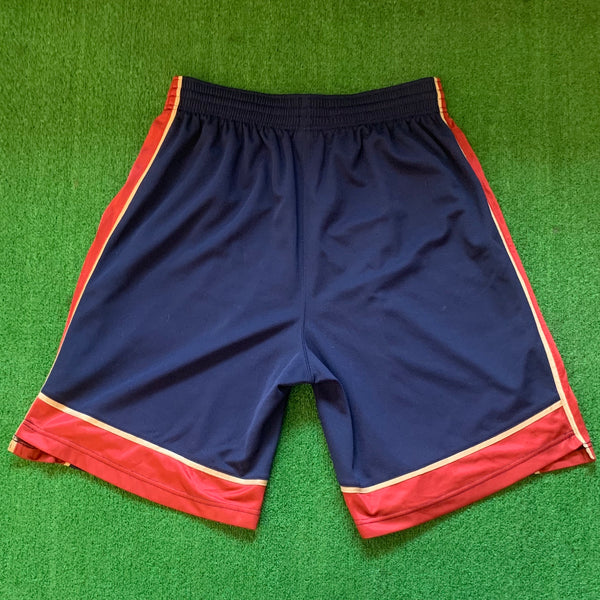 Adidas Cleveland Cavaliers Navy and Red Basketball Shorts
