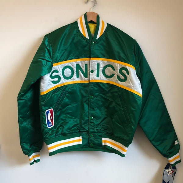 Starter Seattle SuperSonics Green Satin Jacket